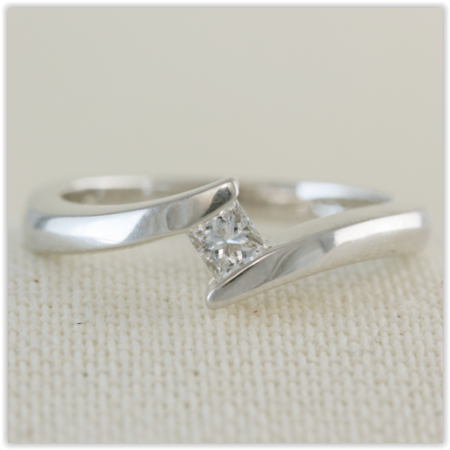 diamond set double row band