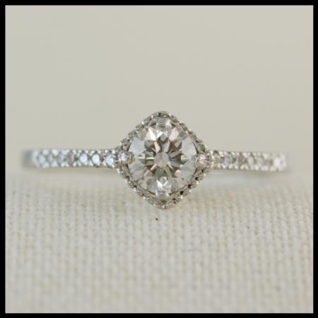 square diamond halo