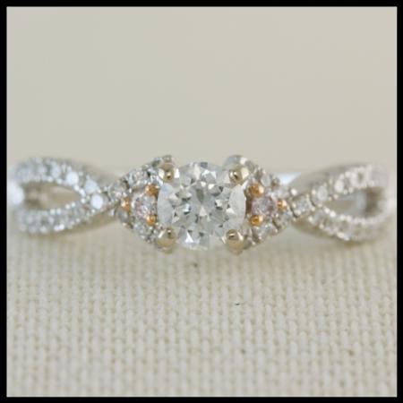 twist band diamond engagement