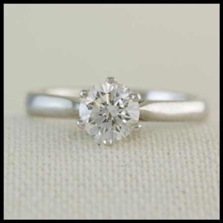 white gold diamond solitaire
