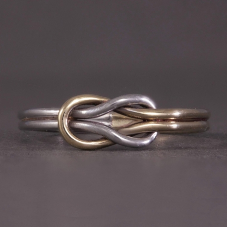 Two Colour Double knot ring