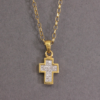 diamond set cross necklace