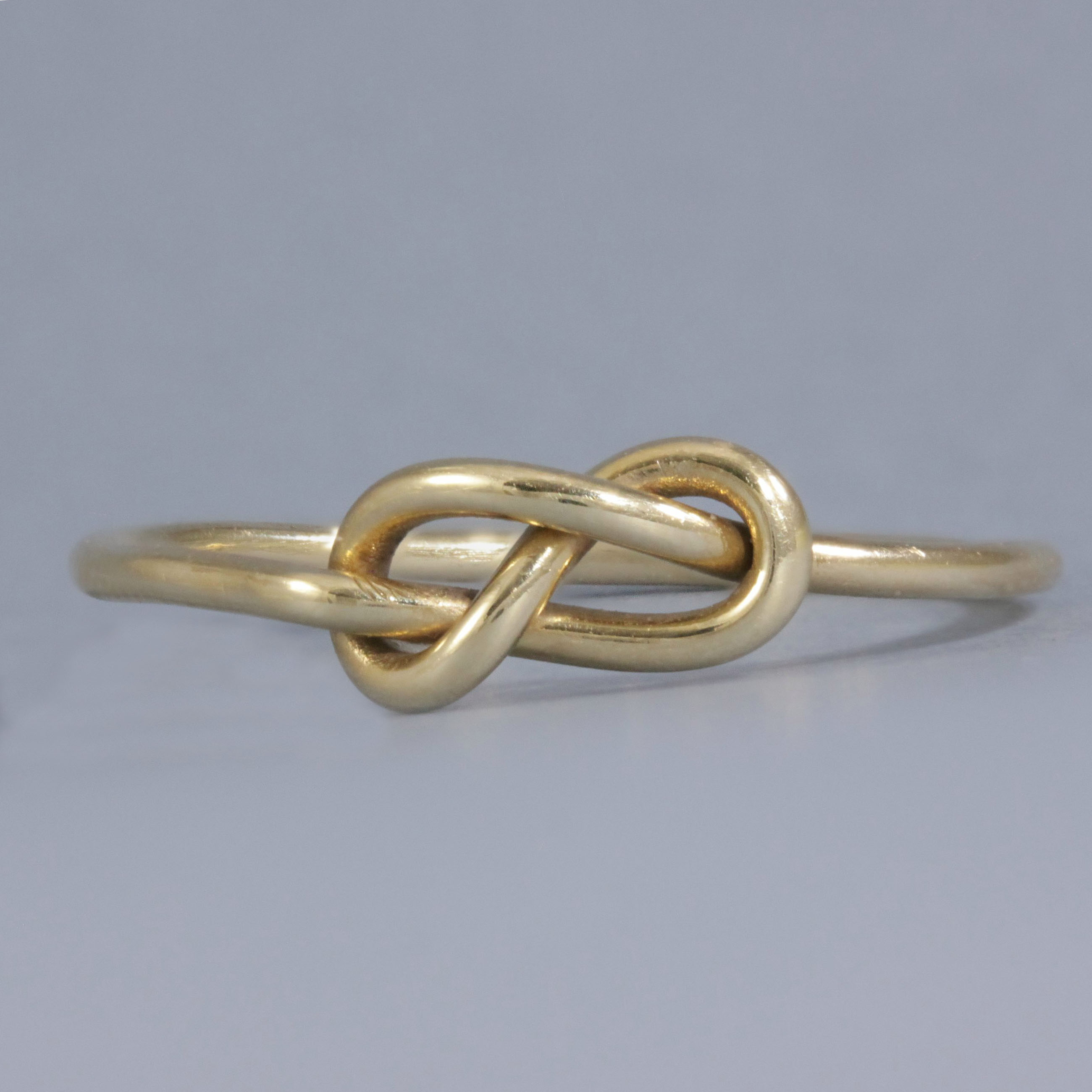 Forget Me Knot Dainty Solid Gold Knot Ring Promise Rings