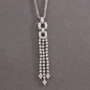 free flow diamond drop necklace