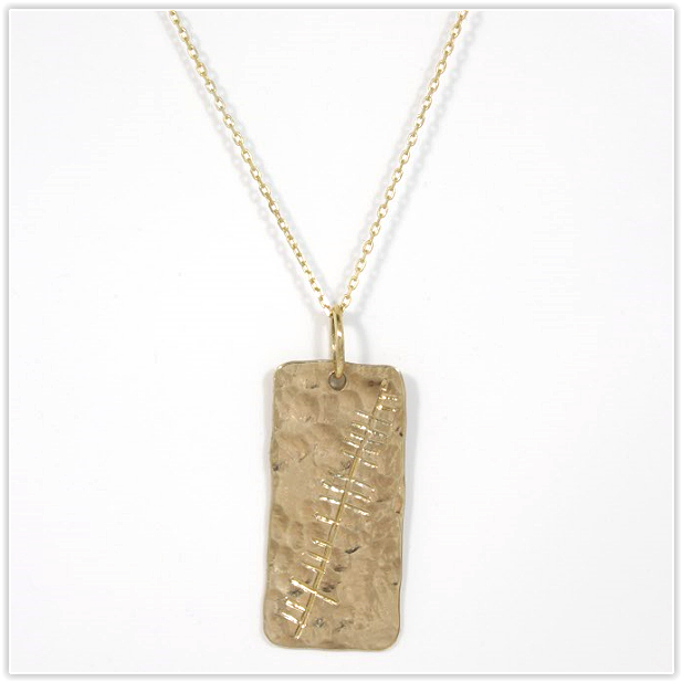 Solid Gold Ogham Necklace Celtic Jewellery Handmade In