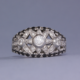 black and white diamond cocktail ring