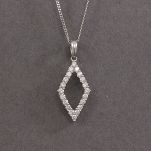 kite shaped diamond necklace