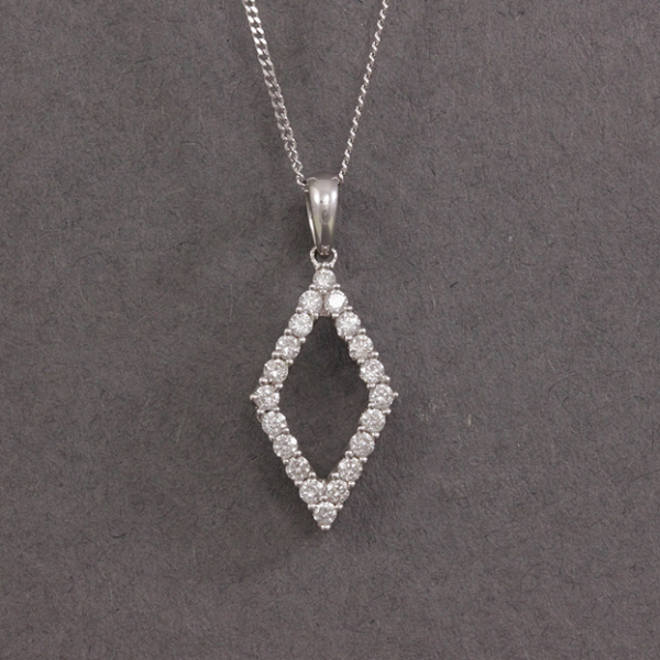 kite shaped diamond necklace