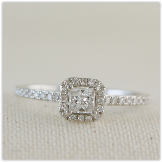 diamond rings round halo engagement square pin ring shaped