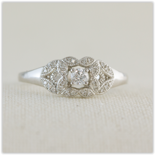 Antique Style Engagement Ring Specialists In Custom Made