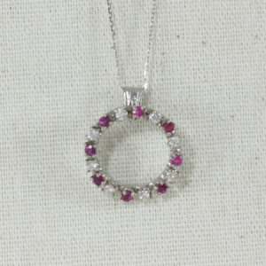 diamond and ruby circle