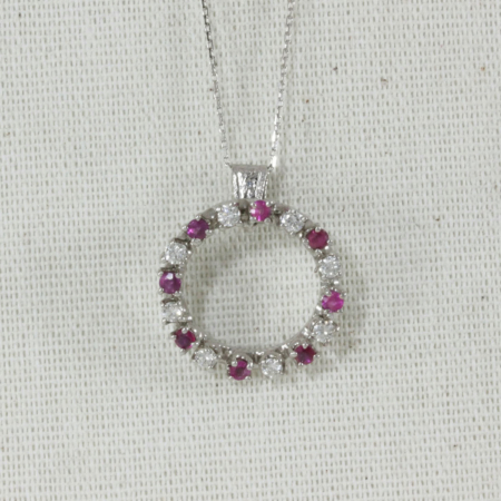 diamond and ruby circle
