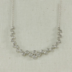 diamond bubble necklace