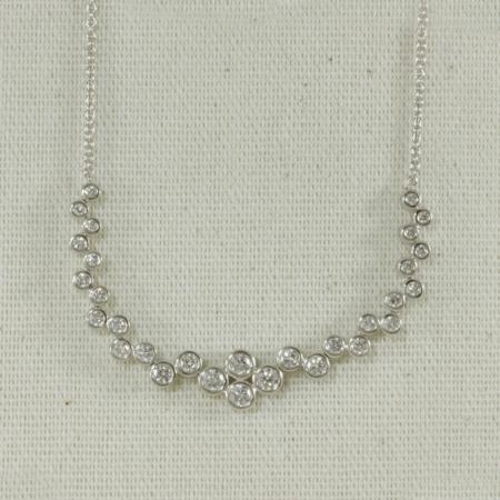 diamond bubble necklace