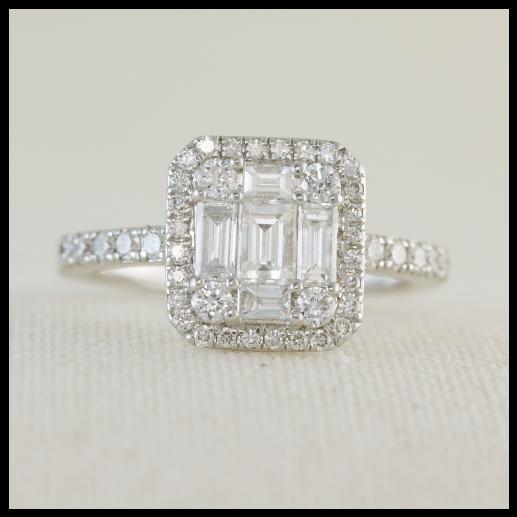 Diamond Cluster Engagement Ring Engagement Ring