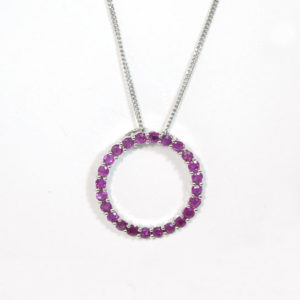 ruby circle necklace