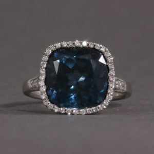 topaz and diamond ring