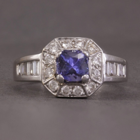 Diamond & Tanzanite cocktail ring