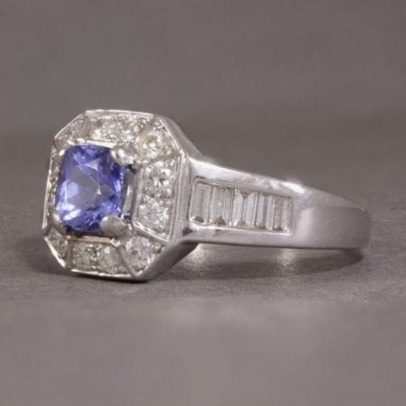 Diamond & Tanzanite cocktail ring