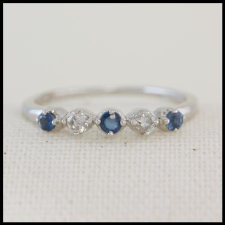 diamond and sapphire half set