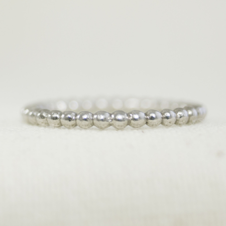 Bead effect stacking ring.