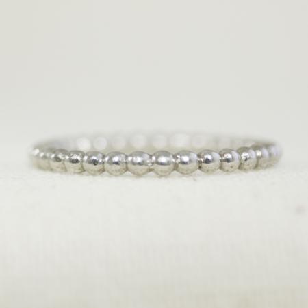 Bead effect stacking ring.