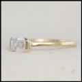 emerald cut diamond minimalist solitaire