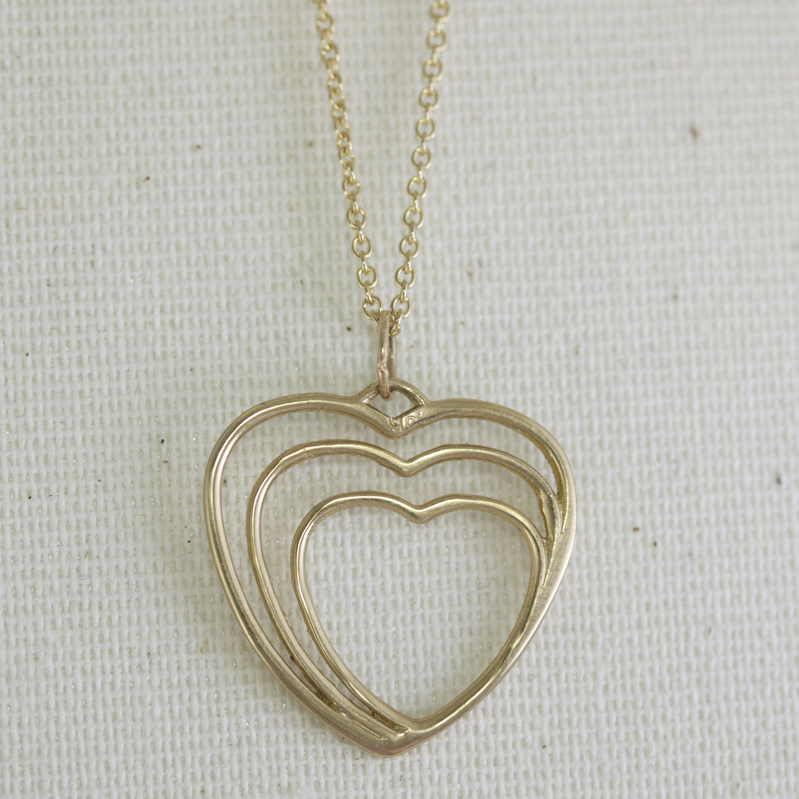 Solid gold heart necklace handmade by abana jewellers dublin solid gold heart necklace aloadofball Images