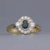 antique style sapphire & diamond ring