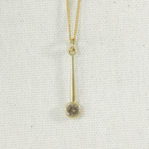 chocolate diamond drop necklace
