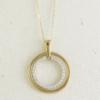Gold diamond circle necklace