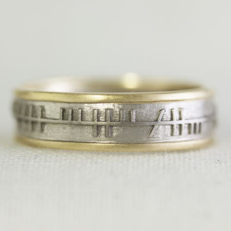 Ogham embossed Ring