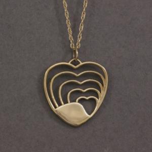 heart shaped handmade necklace