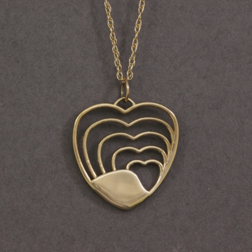 heart shaped handmade necklace