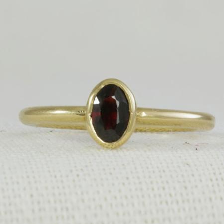 Garnet Stacking Ring