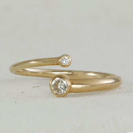 Rose Gold, Just the two of Us diamond ring