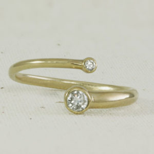 Yellow Gold, Just the two of Us diamond ring