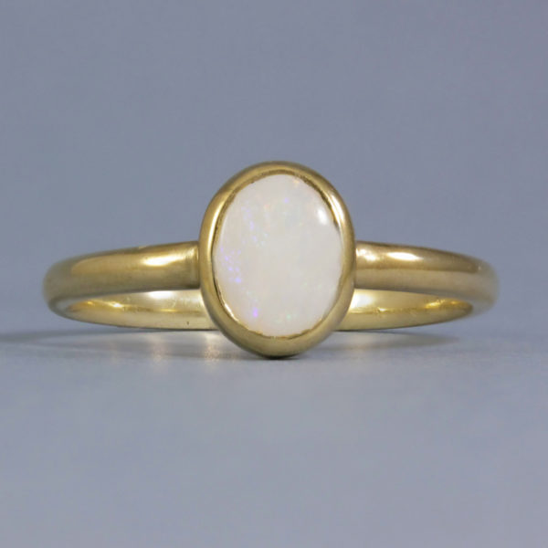 solid gold opal ring