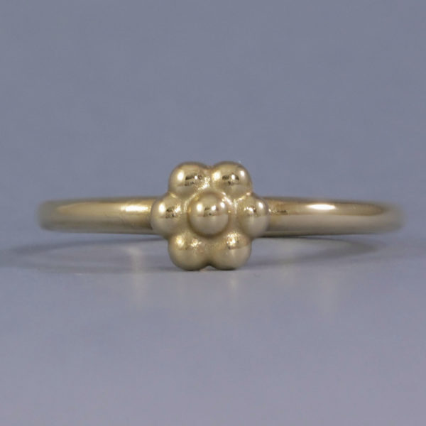 Solid Gold Flower Stacking Ring
