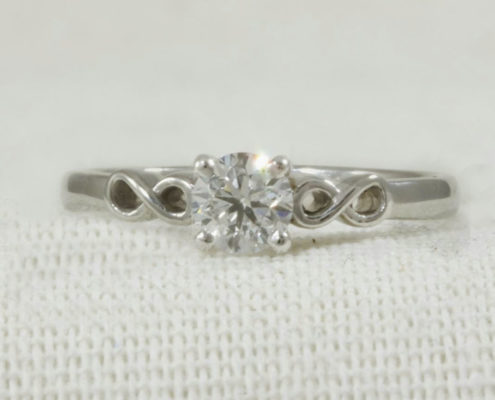 Infinity Shoulders Engagement Ring