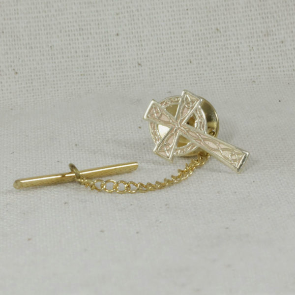 celtic cross tie pin