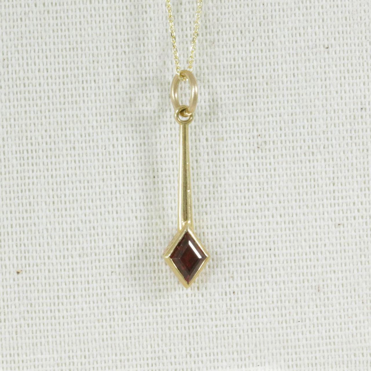 4e071d40b Solid Gold Garnet Necklace - Handmade by ABANA Jewellers
