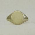 Sold 9k yellow gold signet ring