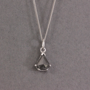 black salt and pepper diamond necklace