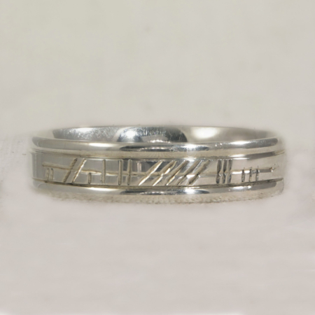 Ogham Engraved Rings