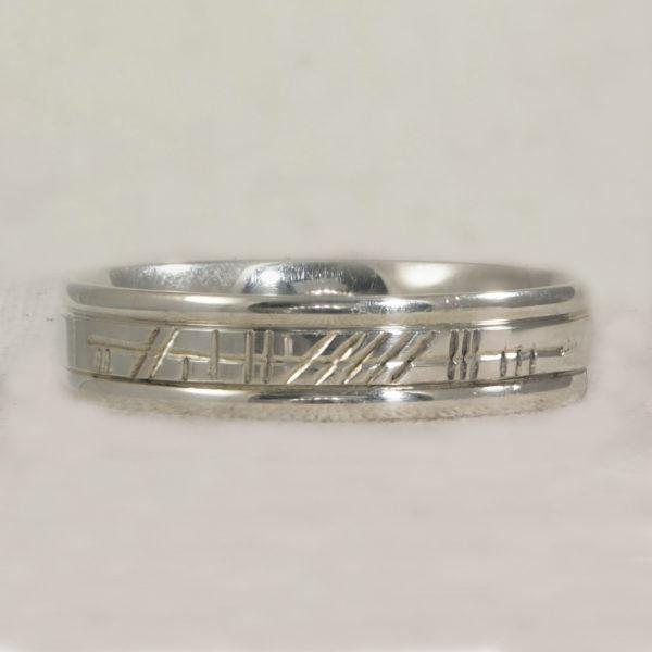 Ogham Engraved Rings