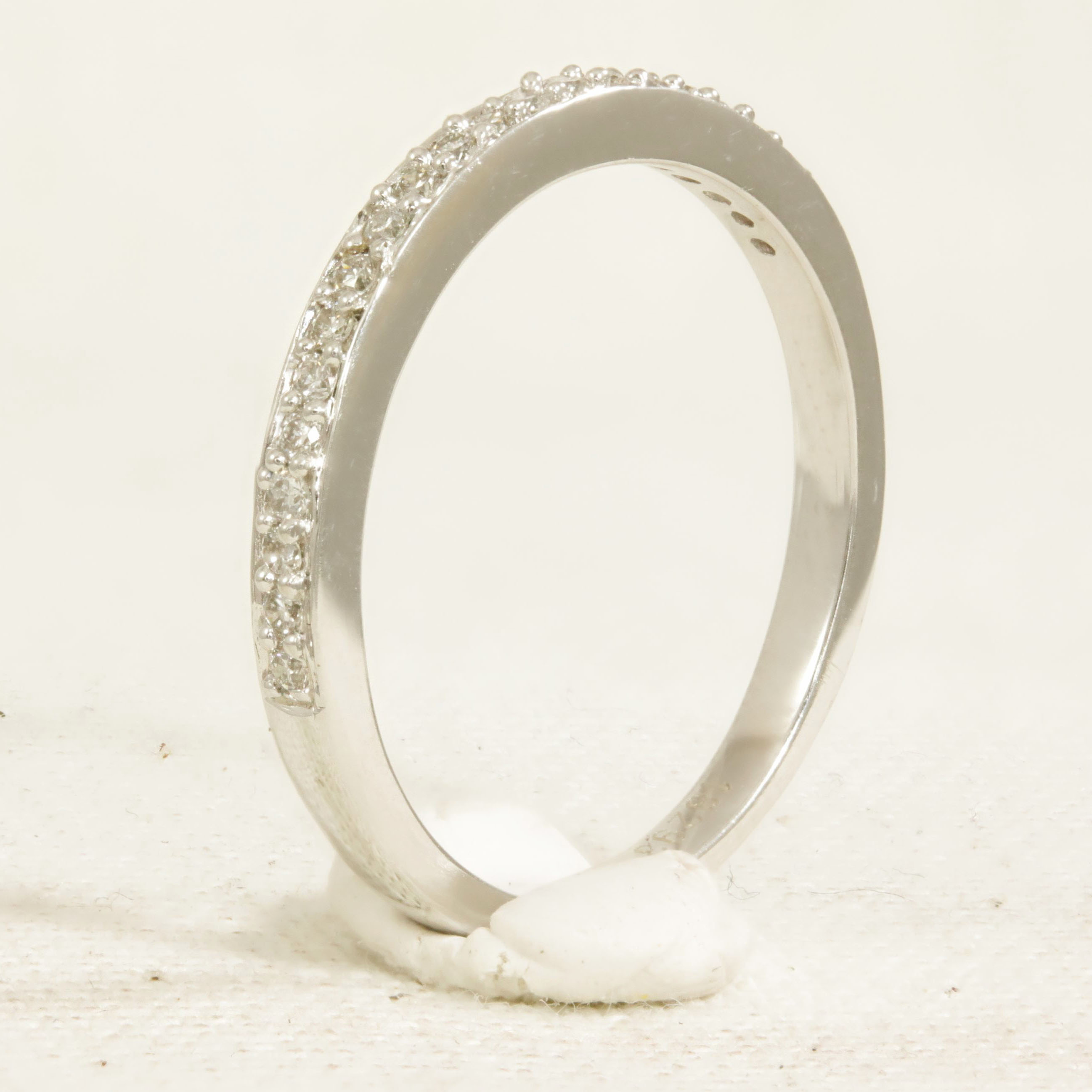 Half set diamond ring