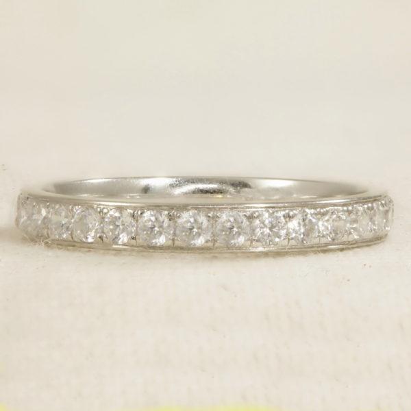 half set diamond ring