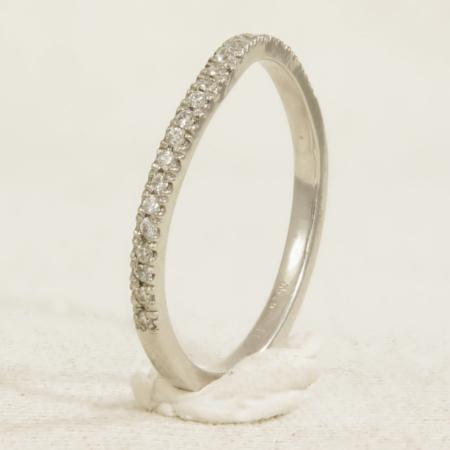 half set curved wedding ring