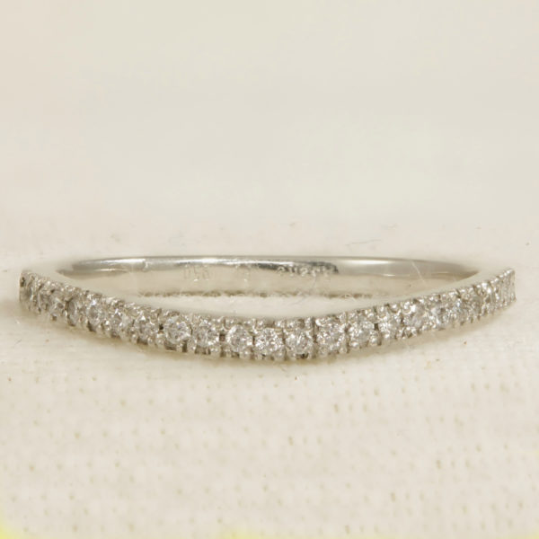 half set curved wedding ring